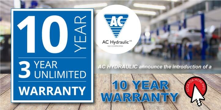 ac hydraulic 10 year warranty
